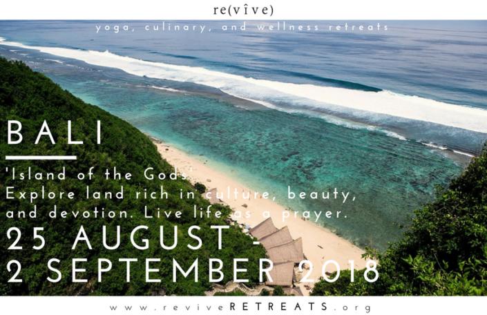 Bali retreat revive retreats 2018