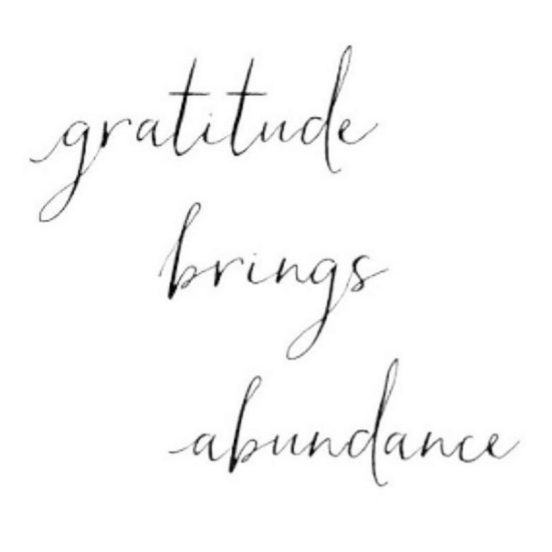 gratitude brings abundance