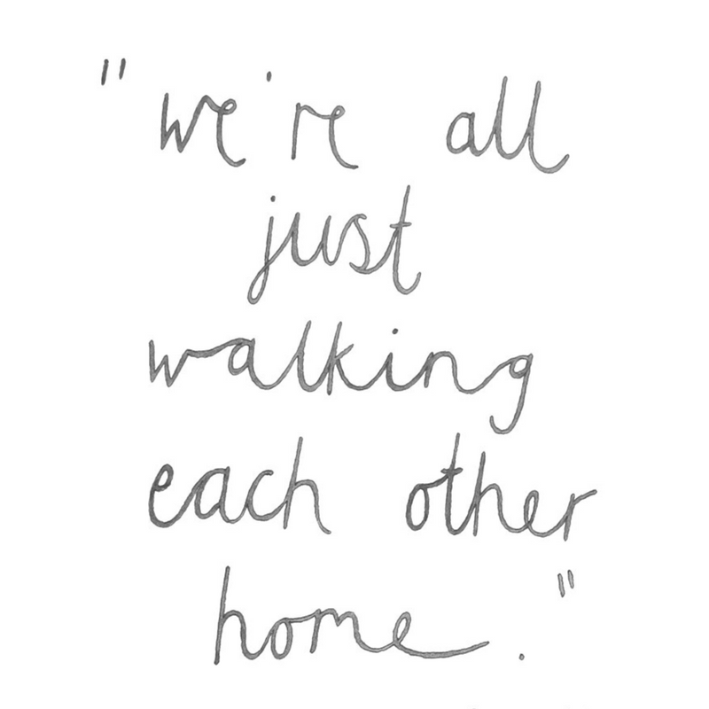 we are all just walking each other home ram dass